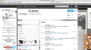 Customized Tsi Design Twitter Profile